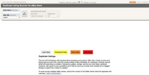 Duplicate Listing Scanner